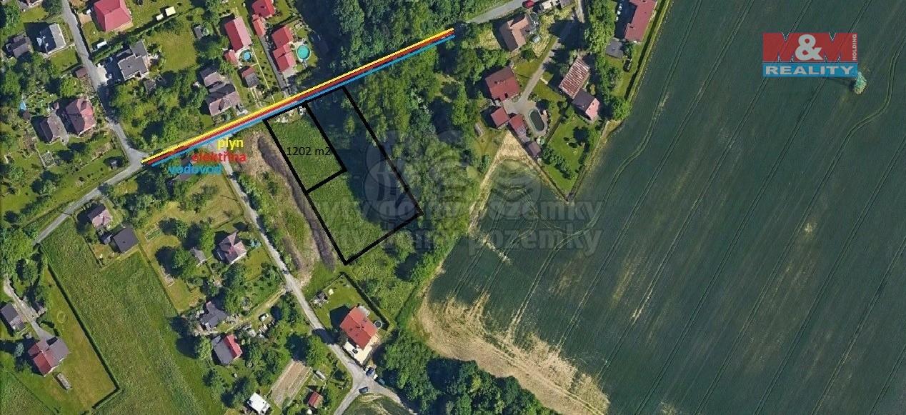 Prodej, stavební parcela, 1202 m², Ostrava, ul. Újezdní