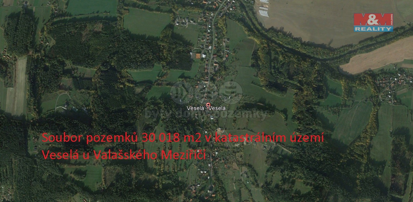 Prodej, pole, 30018 m², Veselá u Valašského Meziříčí