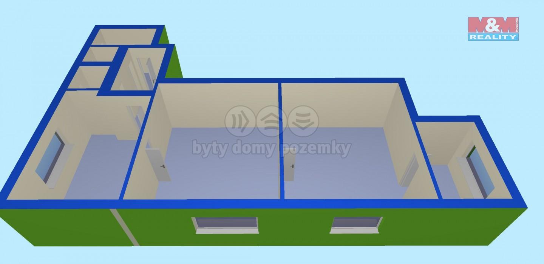 Prodej, byt 3+1, 80 m2, Vítkov, ul. Hřbitovní