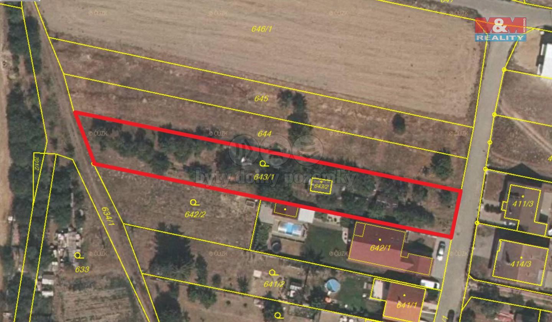 Prodej, stavební parcela, 1461 m², Záříčí