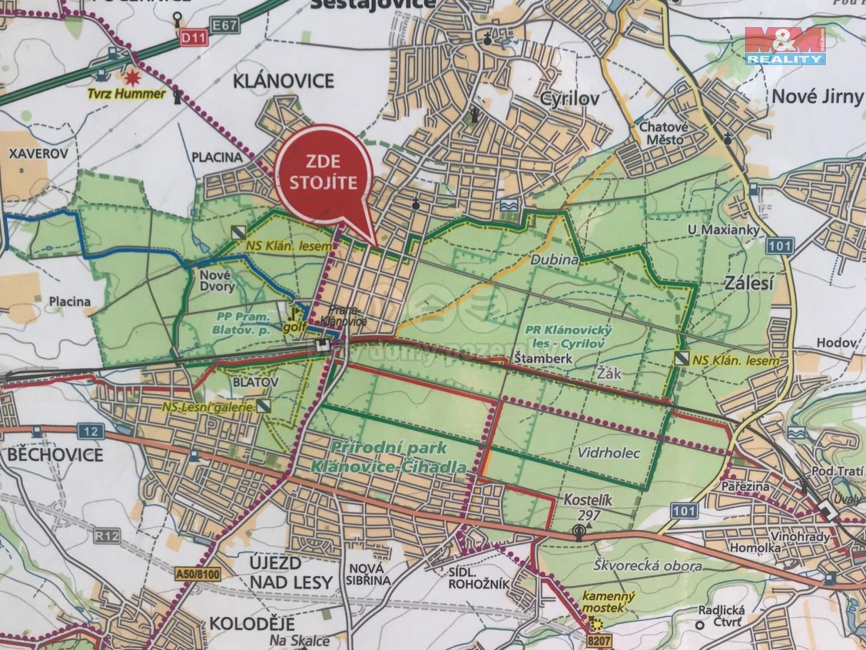 mapka v centru obce