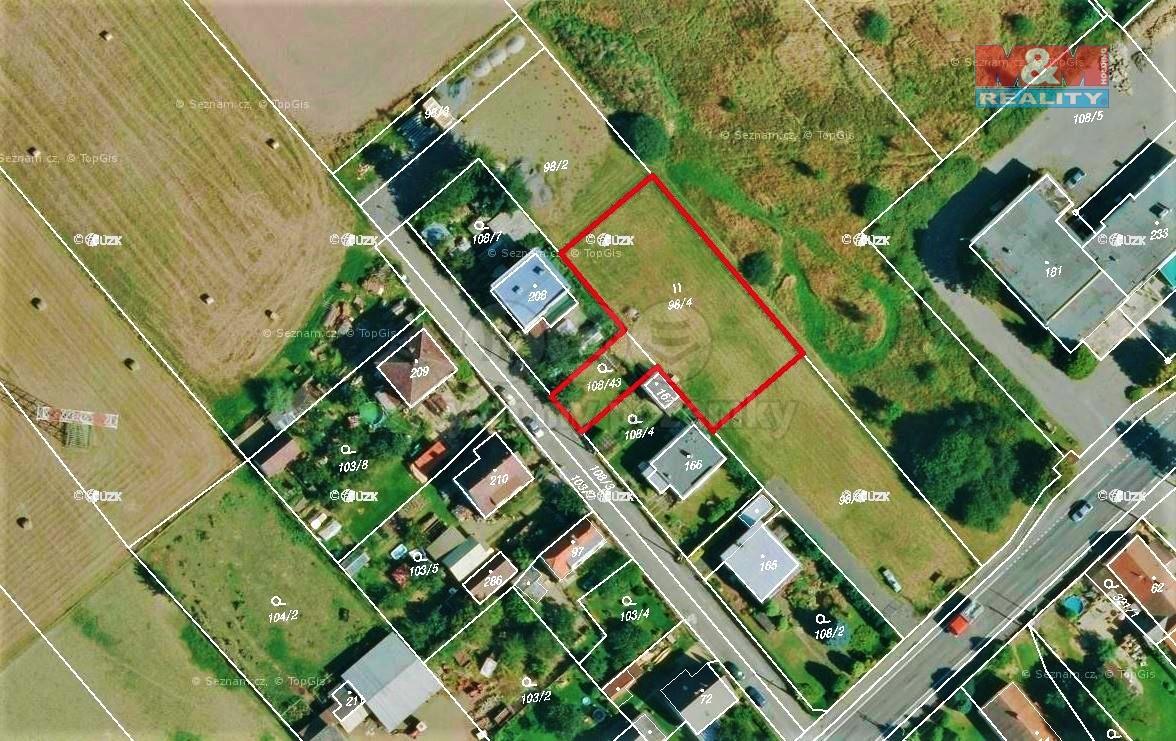 Prodej, stavební parcela, 1218 m², Svojkovice