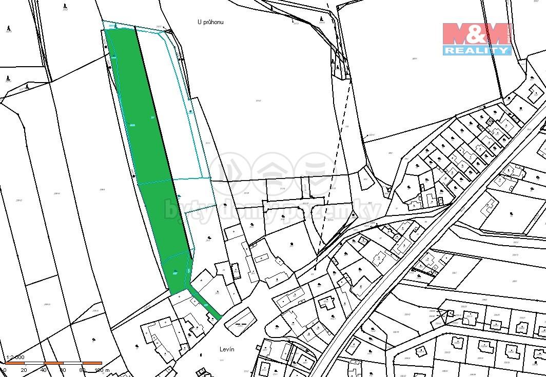 Prodej, stavební parcela, 3238 m², Králův Dvůr - Levín
