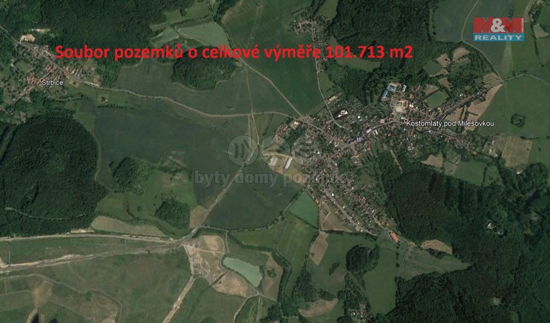 Prodej, pole, 101713 m2, Kostomlaty pod Milešovkou