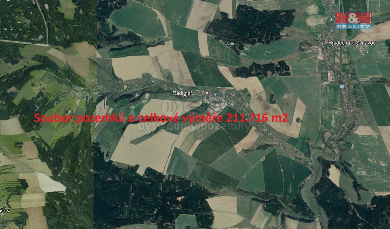 Prodej, louky, 211716 m2, Radiměř
