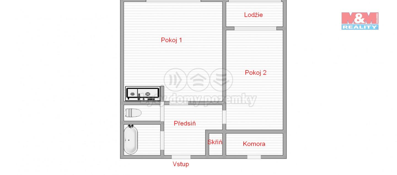 orientační plánek bytu