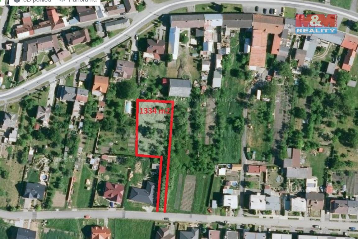 Prodej, stavební pozemek, 1334 m², Roštění
