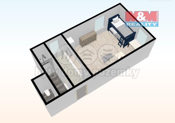 Prodej, byt 1+kk, 38 m2, Otovice, ul. Děpoltovická