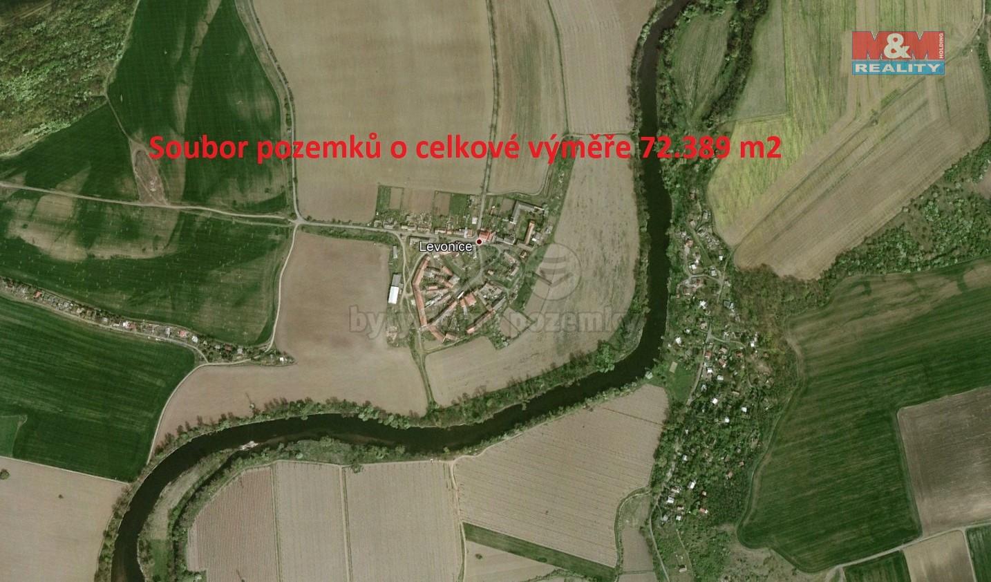 Prodej, pole, 72389 m2, Levonice