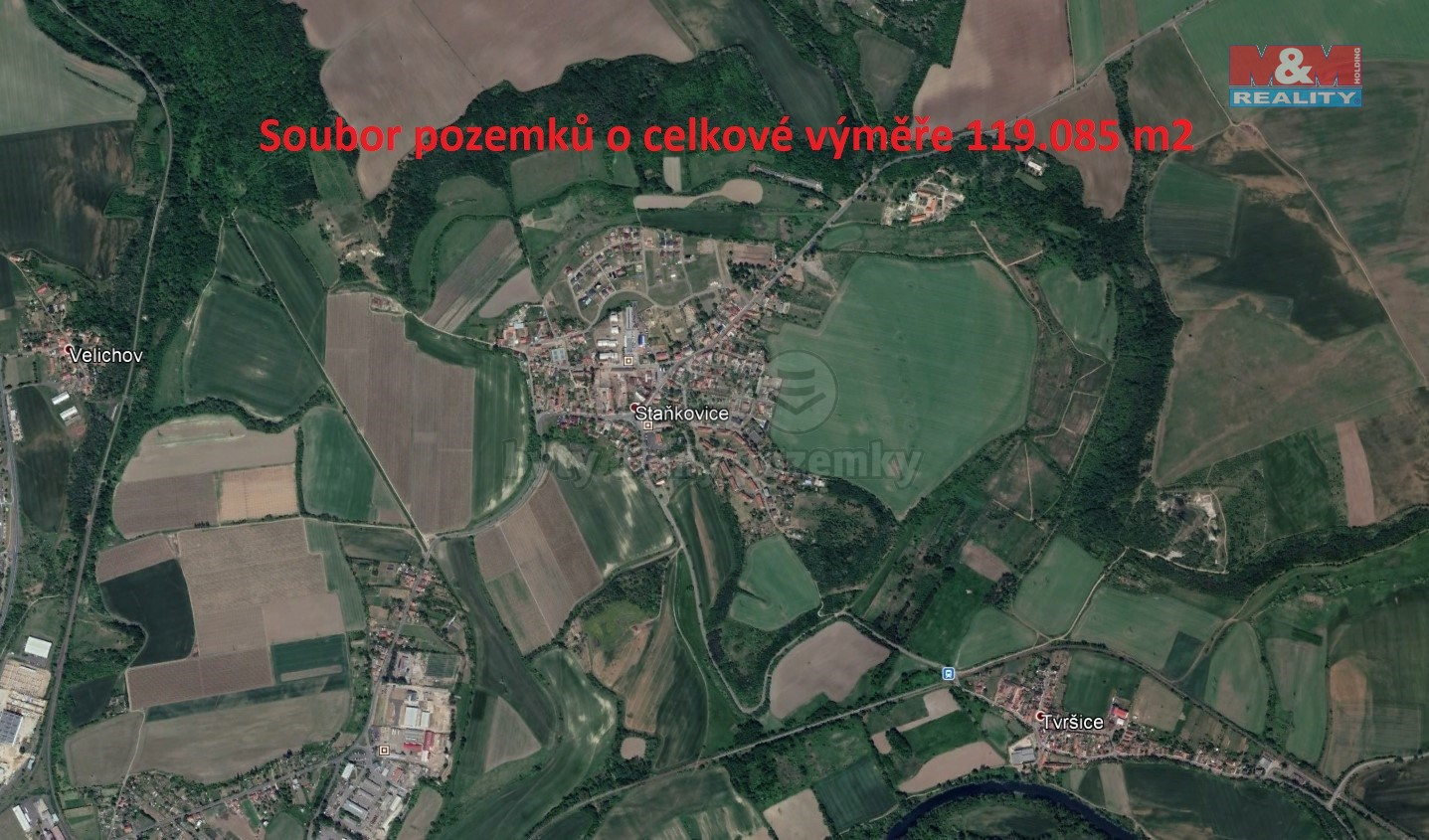 Prodej, pole, 119085 m2, Staňkovice u Žatce