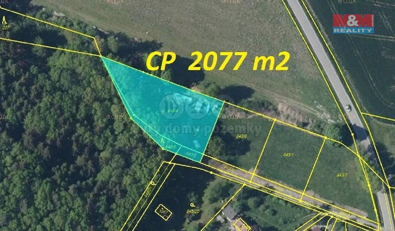 Prodej, pozemek určený k výstavbě, 2077 m², Strakonice