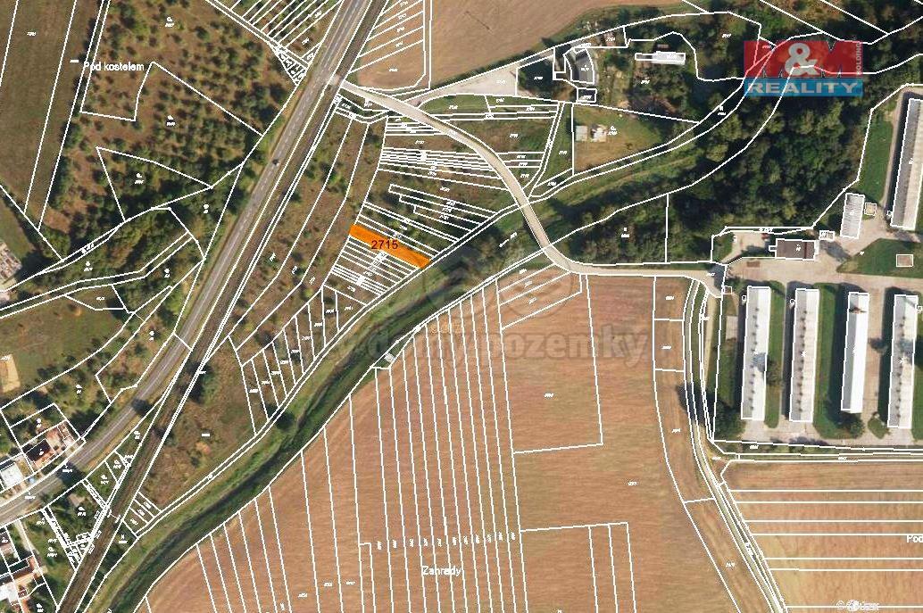 Prodej, orná půda, 239 m2, Újezdec u Luhačovic