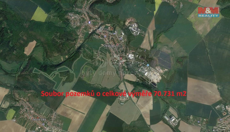 Prodej, pole, 70731 m2, Oslavany