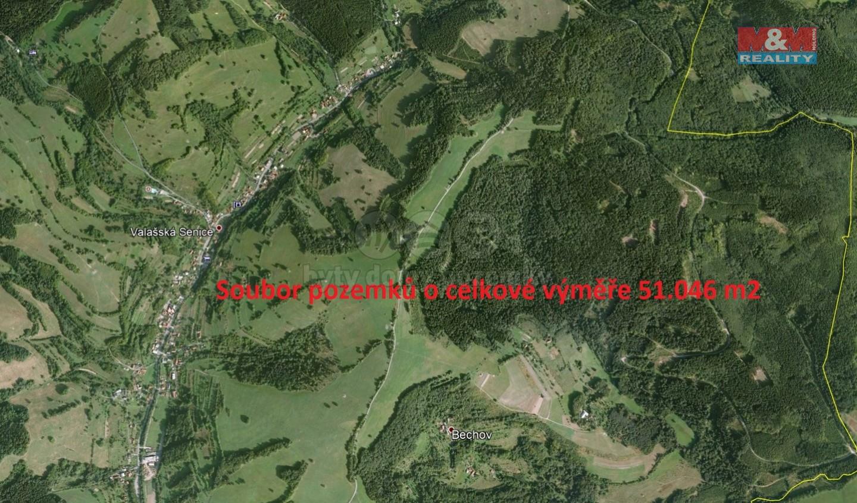 Prodej, louka, 51046 m2, Valašská Senice