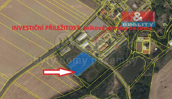 Prodej, pozemek k bydlení, 5470 m², Věžky