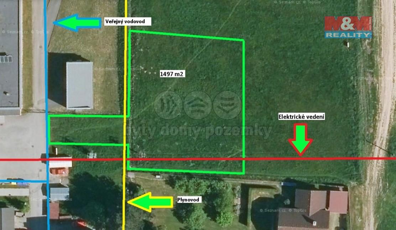 Prodej, stavební pozemek 1497 m², Zubří