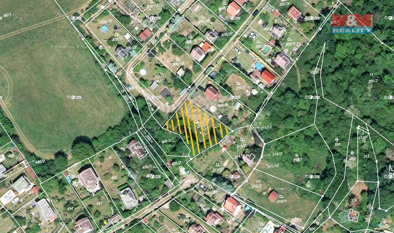 Prodej, zahrada, OV, 750 m2, Ústí nad Labem, Církvice