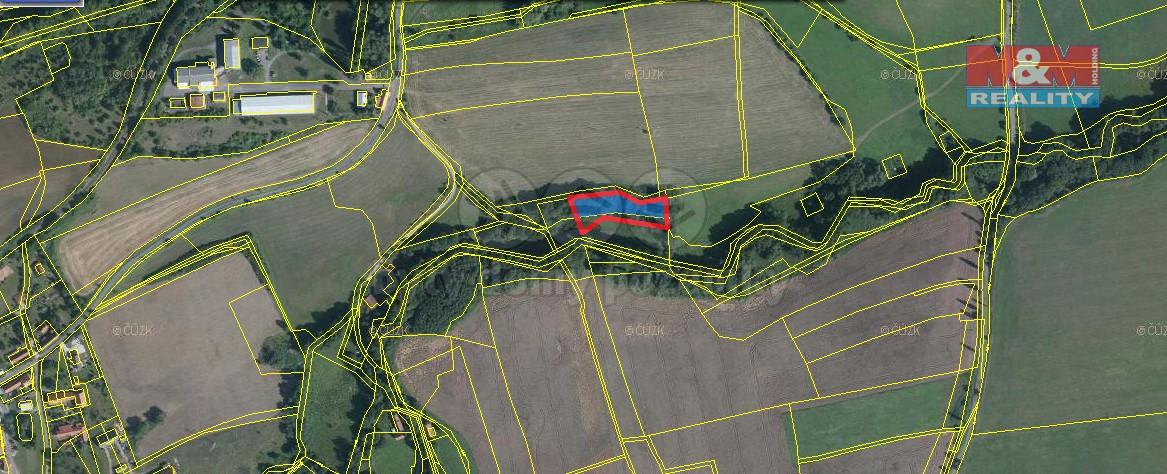 Prodej, lesní pozemek 2813 m2, Liteň - Leč
