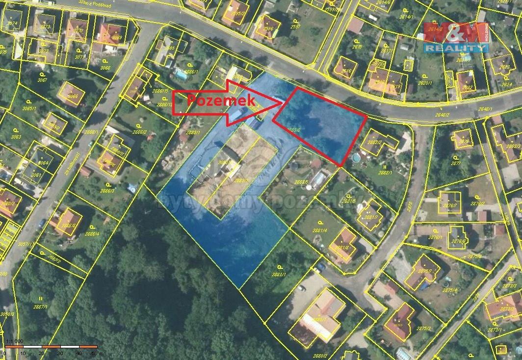 Prodej, pozemek k bydlení, 1400 m², Děčín, ul. J. z Poděbrad