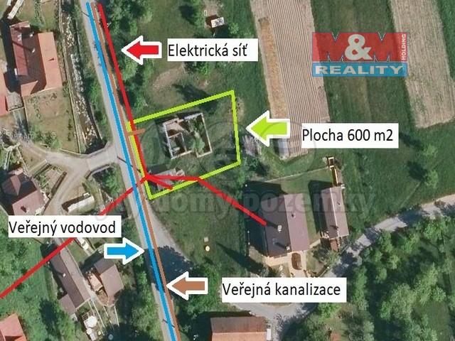Prodej, pozemek k bydlení, 600 m², Nový Hrozenkov