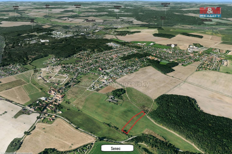 Prodej, parcela, 5607 m2, Zruč - Senec
