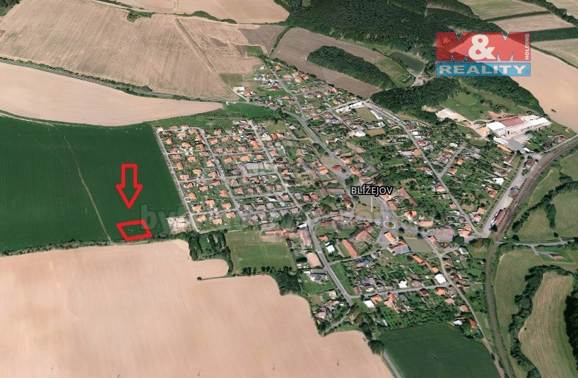 Prodej, pozemek, 2185 m², Blížejov