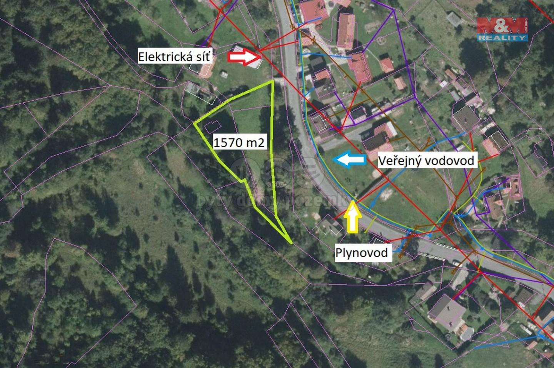 Prodej, pozemek k bydlení, 1570 m2, Halenkov
