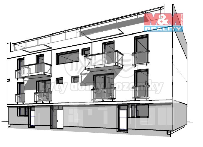 Pronájem, byt 2+kk, 51 m², Hodonín, ul. Žižkova, 1C