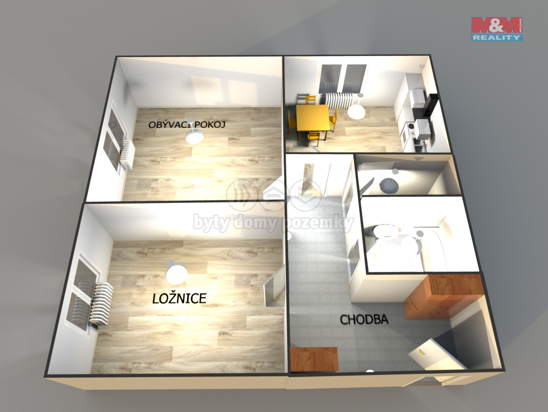 Pronájem, byt 2+1, 68 m², Prostějov, ul. Šárka