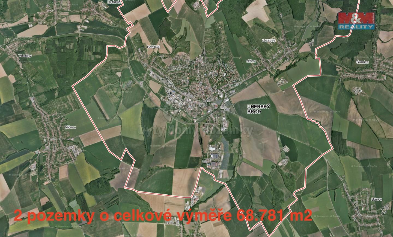 Prodej, pole, 68781 m2, Uherský Brod