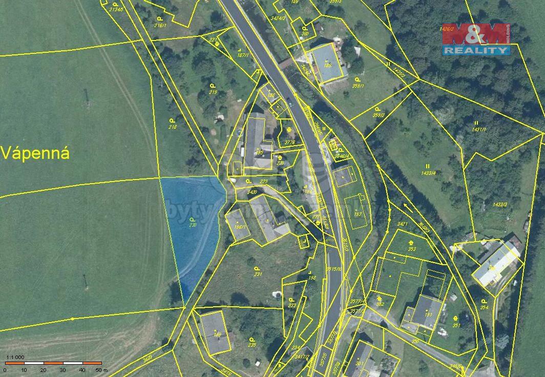 Prodej pozemku k bydlení, 1442 m², Vápenná