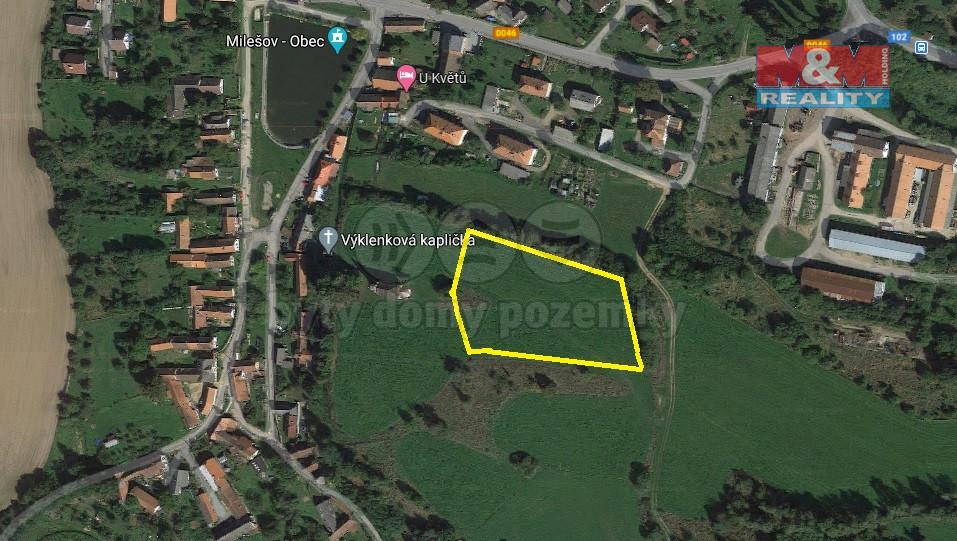 Mapa 1.jpg (Prodej pozemku k bydlení, 6686 m², Milešov), foto 1/6