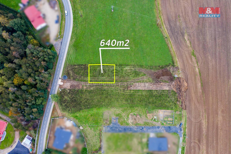 Prodej pozemku k bydlení, 640 m², Břasy