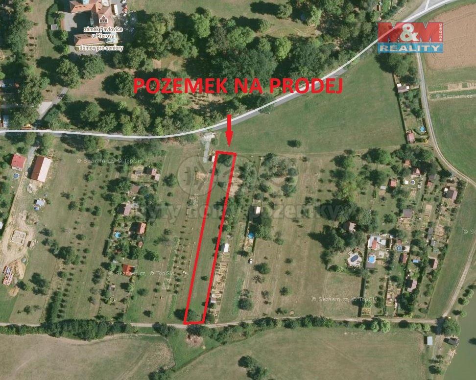 Prodej pozemku k bydlení, 2080 m², Pavlovice u Přerova