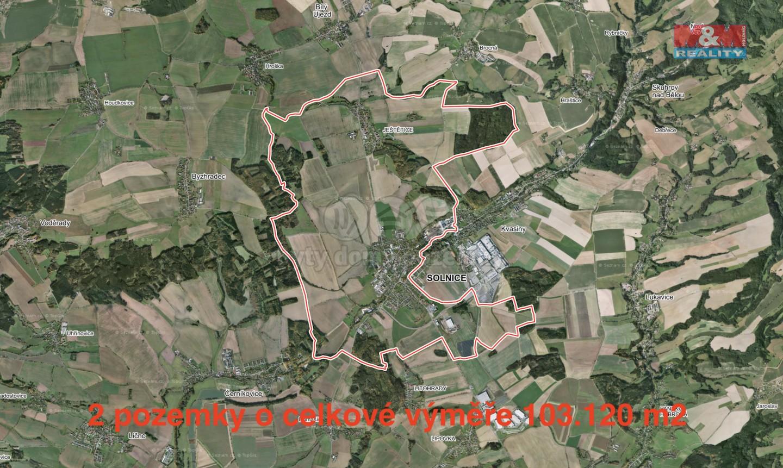 Prodej, pole, 103120 m2, Solnice