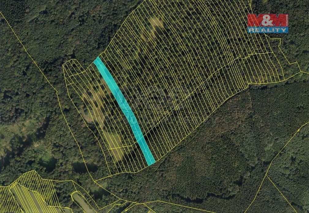 Prodej lesa, 10956 m², Suchá Loz