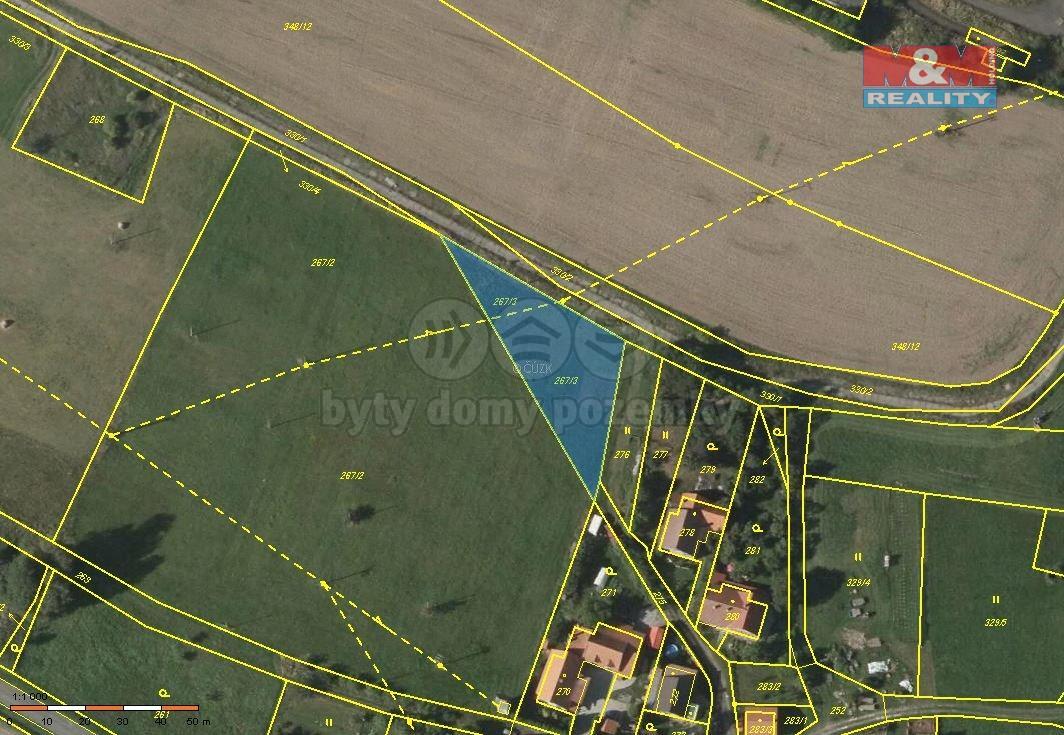 Prodej pozemku, 1166 m², Odry
