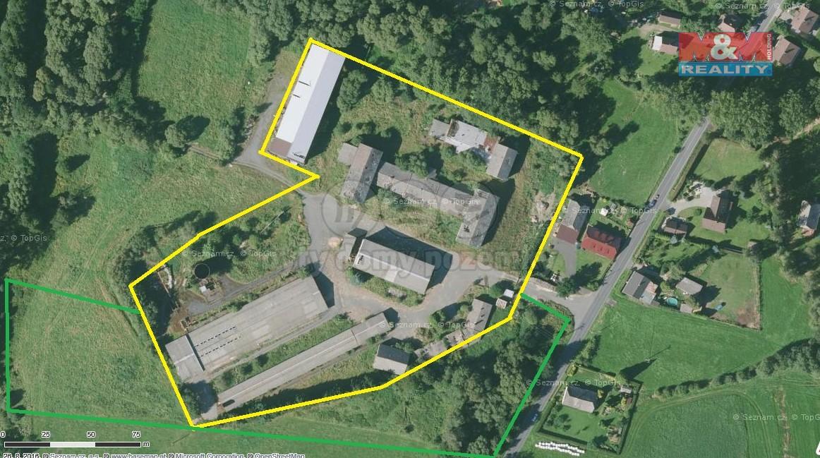 Prodej, skladovací areál, 34777 m2, Milence