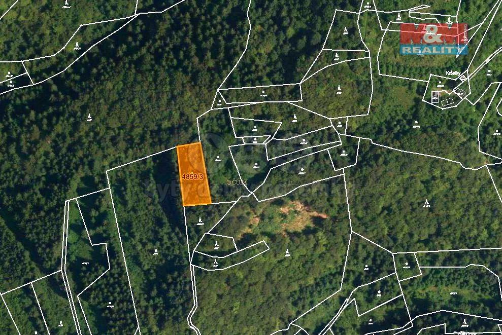 Prodej lesa, 5001 m², Halenkov