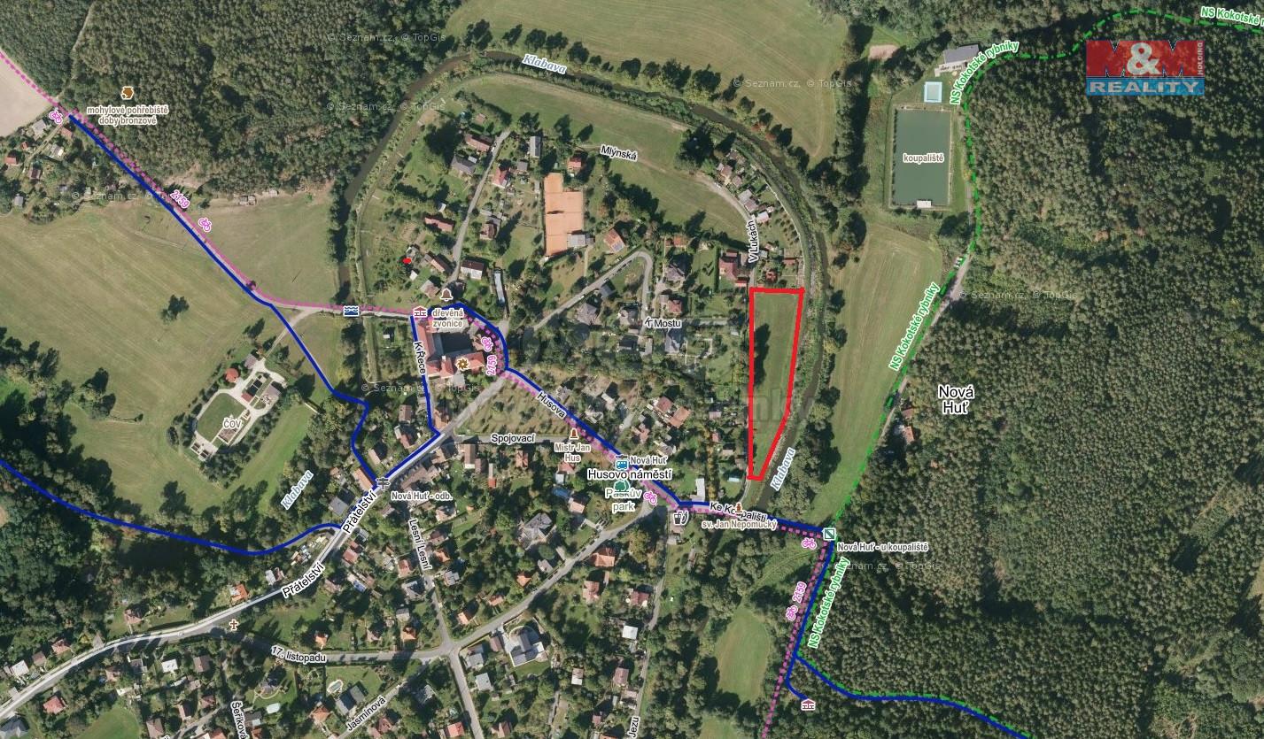 Prodej pozemku, 1079 m², Dýšina, ul. V Lukách