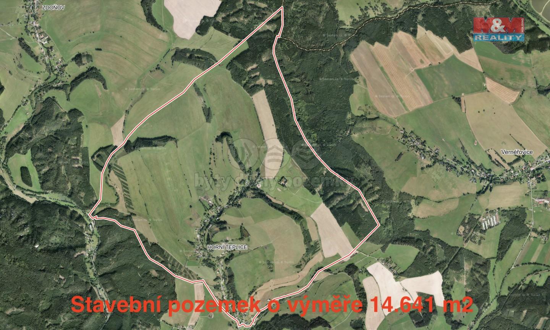 Prodej, pozemek k bydlení, 14641 m2, Horní Teplice