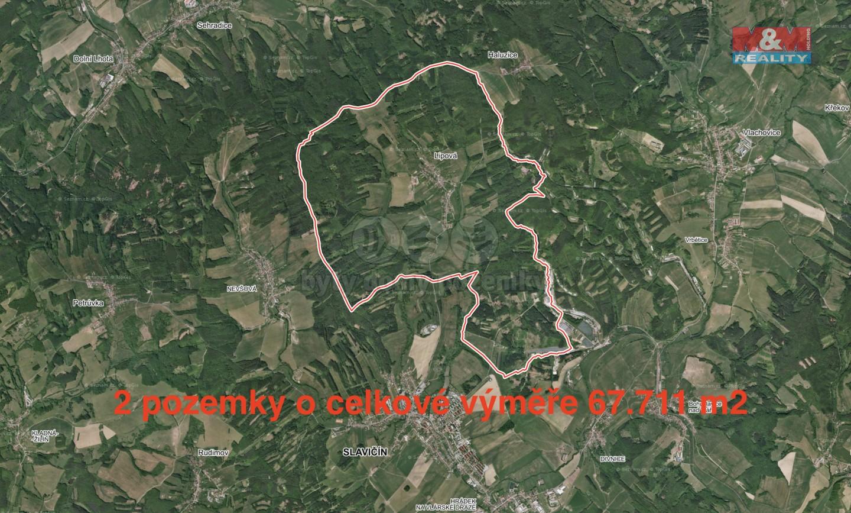 Prodej, louka, 67711 m2, Lipová u Slavičína