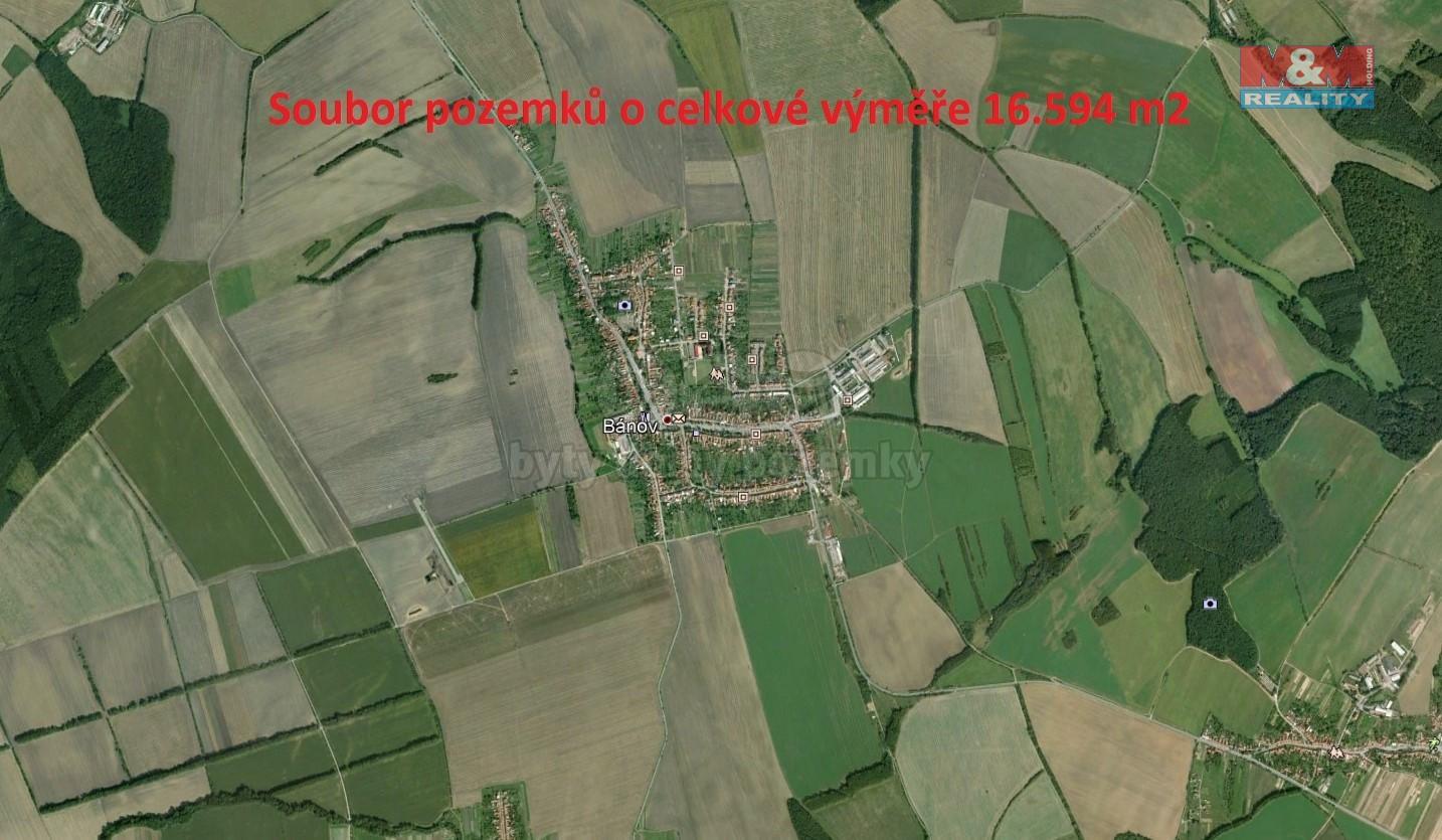 Prodej, pole, 16594 m2, Bánov