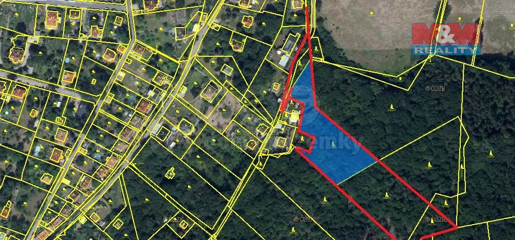 Prodej lesa, 9589 m², Všenory