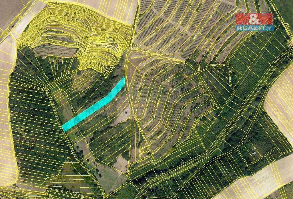Prodej, les a orná půda, 3415 m2, Hustopeče u Brna