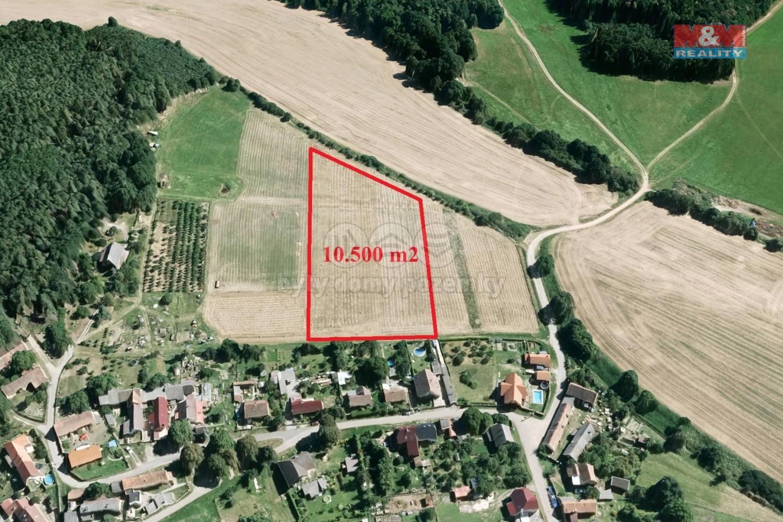 Prodej pole, 10500 m², Rochlov