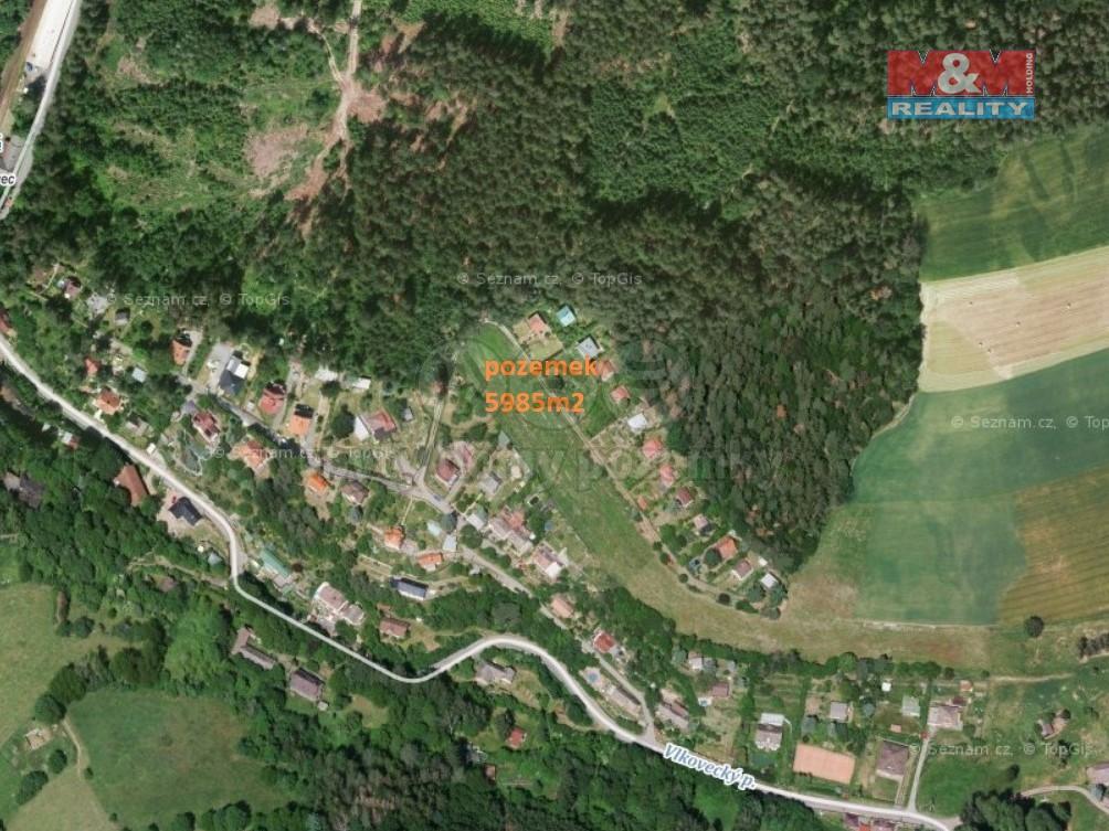 Prodej, pozemek k výstavbě 5985 m2, Chocerady-Vlkovec