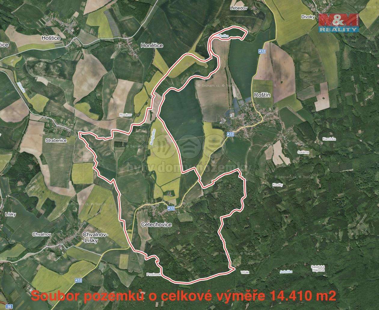 Prodej louky, 14410 m², Cetechovice