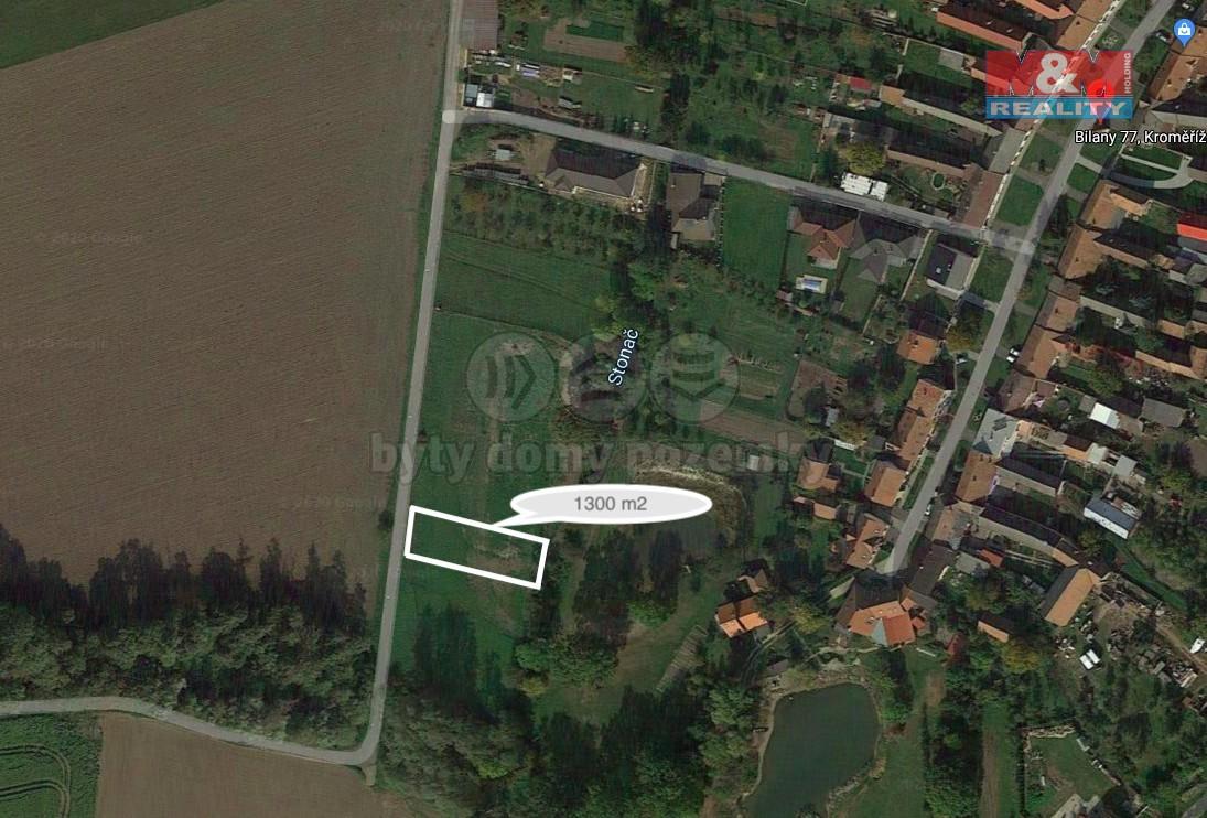 Prodej pozemku k bydlení, 1262 m², Kroměříž