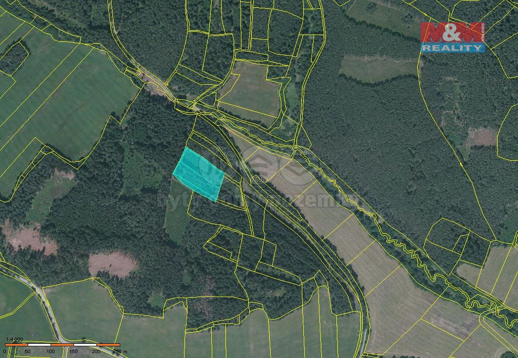 Prodej lesa, 7255 m², Lažiště